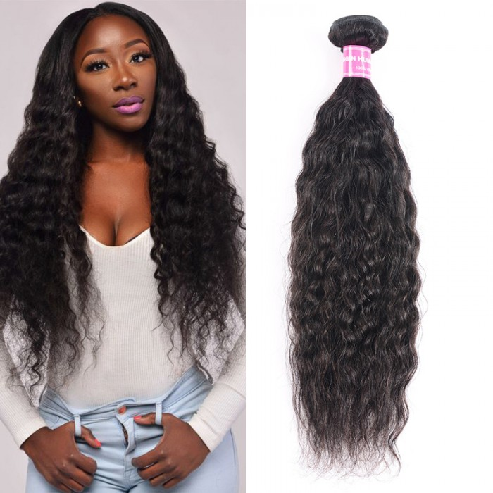 UNice Natural Soft Touch & Texture Super Wave Human Hair Weave 1 Piece 100% Unprocessed Virgin Super Wave Icenu Series