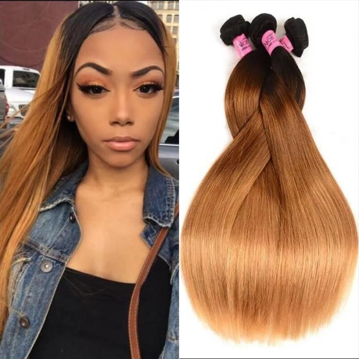 UNice Hair Icenu Series 3Pcs/Lot Three Tone Ombre Straight Virgin Hair