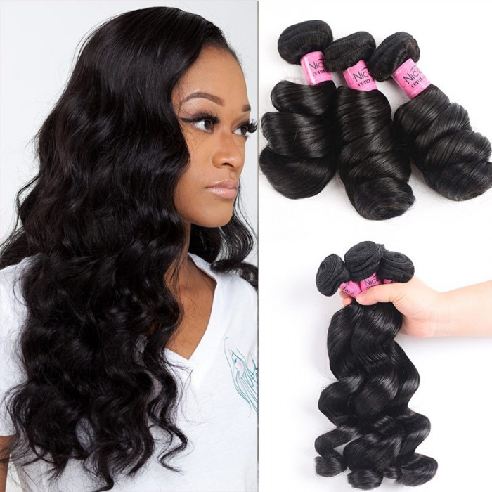 UNice Hair Icenu Series 3pcs/pack Peruvian Virgin Hair Loose Wave