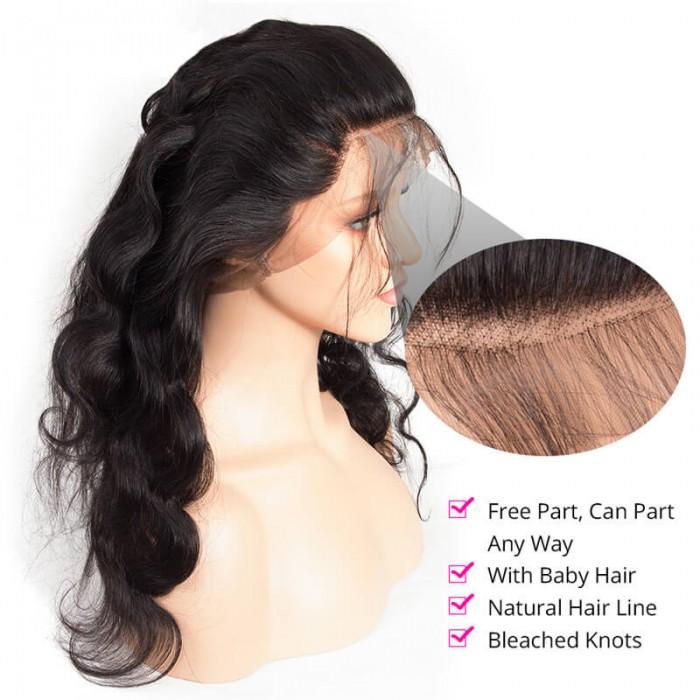 UNice Hair Icenu Series 3 Bundles Body Wave Virgin Hair With 360 Lace Frontal Closure