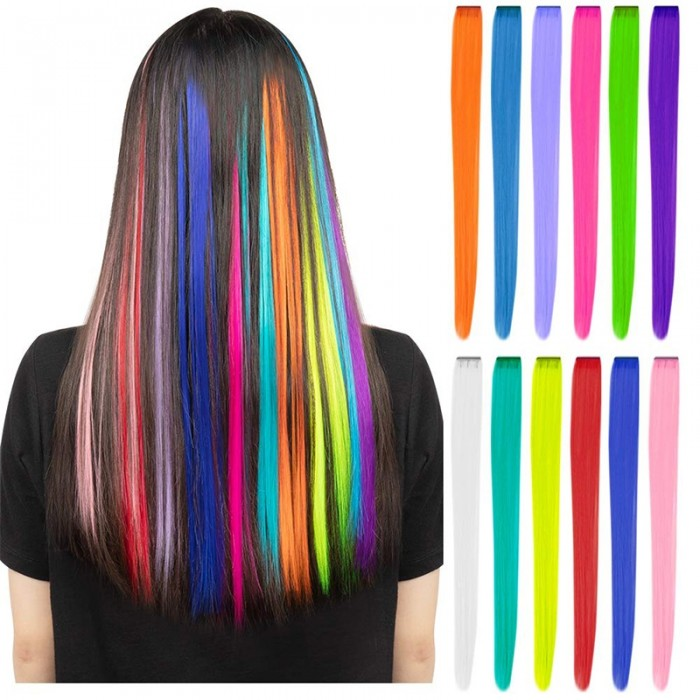 Bonus Buy Colored Party Highlights Colorful Clip in Virgin Hair Extensions Unice Hair