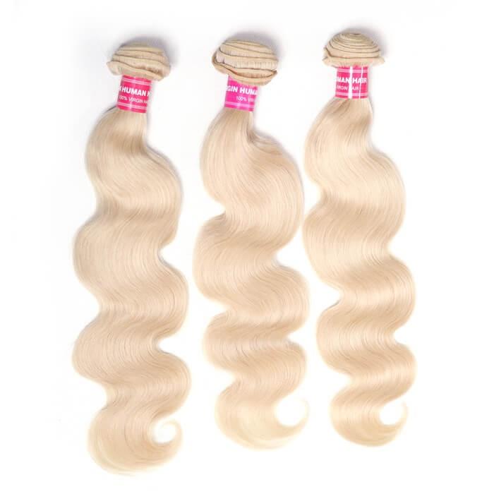 Unice Hair 3PCS 613 Blonde Virgin Human Hair Bundles Body Wave Hair