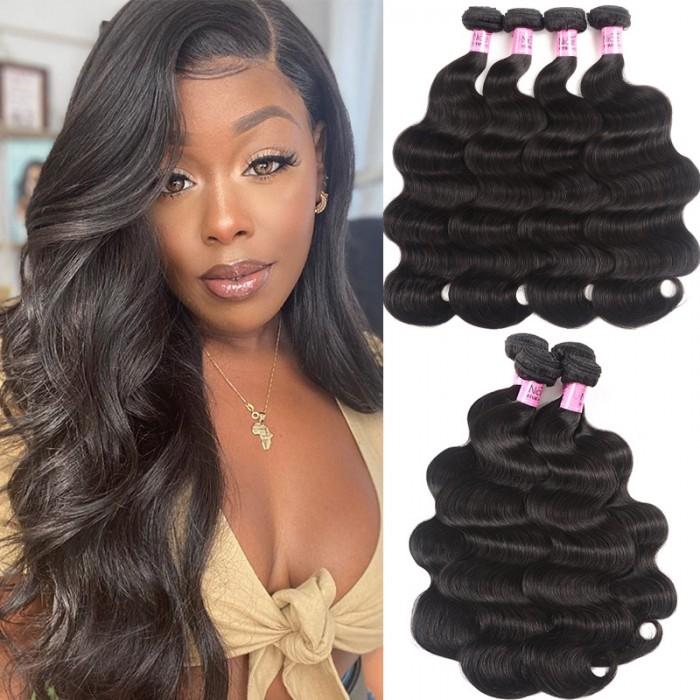 UNice Hair Body Wave Hair 22 24 26 28 Inch Virgin Hair 4 Bundles Icenu Series