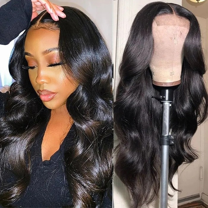 UNice Body Wave Wig Lace Part Wig 150% Density Middle Part With Baby Hair Realistic Human Hair Wigs Bettyou Series