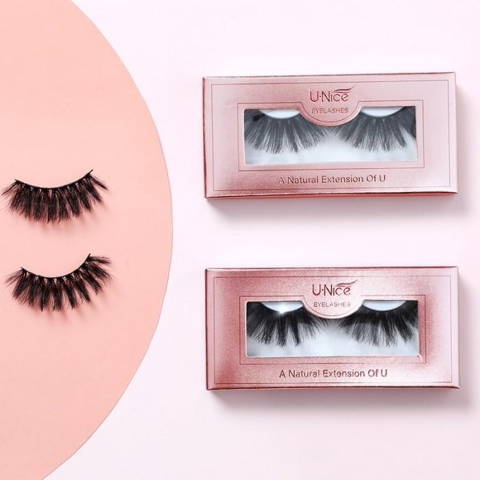 UNice 3D Mink Fur False Eyelashes Fake Lashes