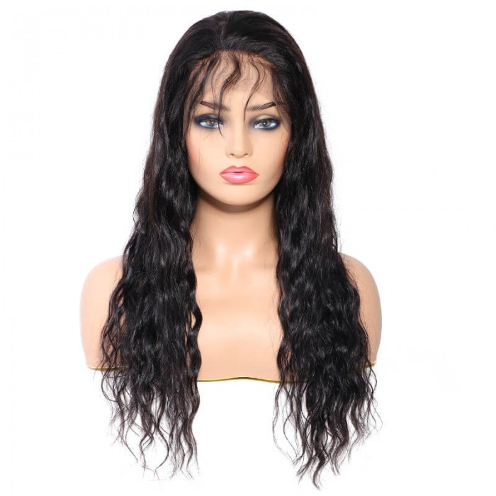 UNice Hair Bettyou Series Peruvian Long Water Wave Human Hair 360 Lace Front Wig With Baby Hair For Women Online For Sale