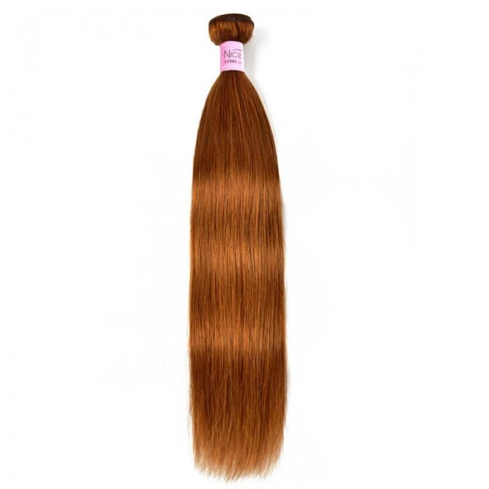 UNice 1 Bundle Charming Human Hair Weave Novel Pre- colored #30 Straight Human Hair Weave Icenu Series