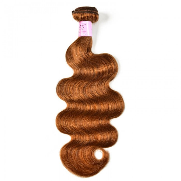 UNice #30 Colored Body Wave Human Hair Bundles 1 Bundle 100g Remy Hair Extensions Brown Color Icenu Series