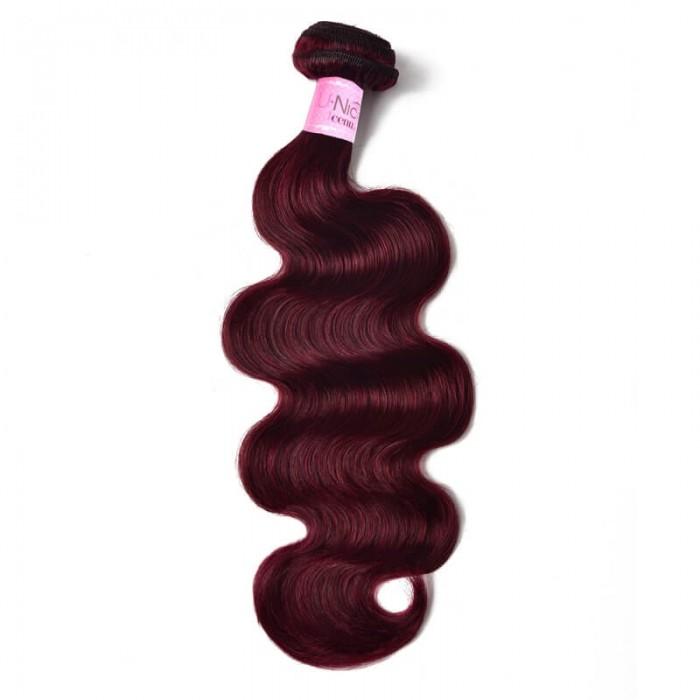 UNice 99J Burgundy Body Wave Hair Extensions