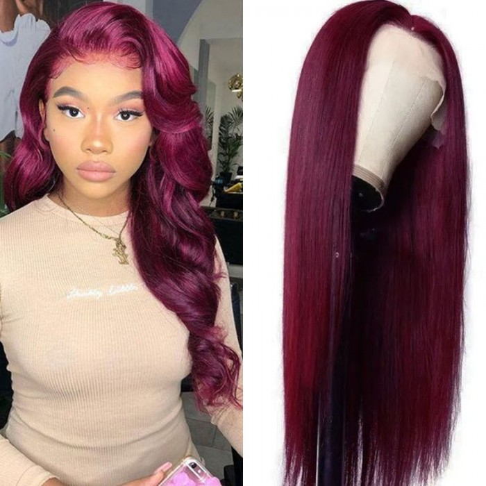 UNice 99j Colored Wig Straight HD Transparent Lace Wigs for Sale 180% High Density Bettyou Series