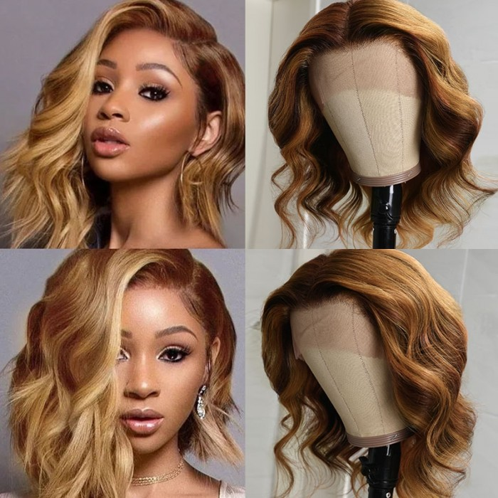 UNice Blonde Balayage Lace Front Celebrity Wave Style Wigs