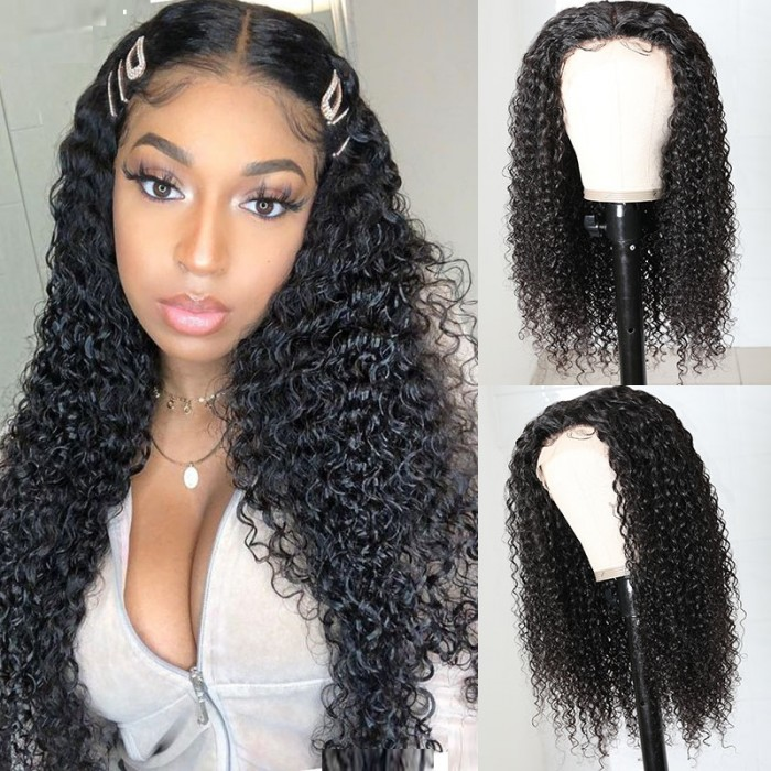 UNice Curly Middle Part Wigs T-shape Lace Front Wigs For Women Bettyou Series