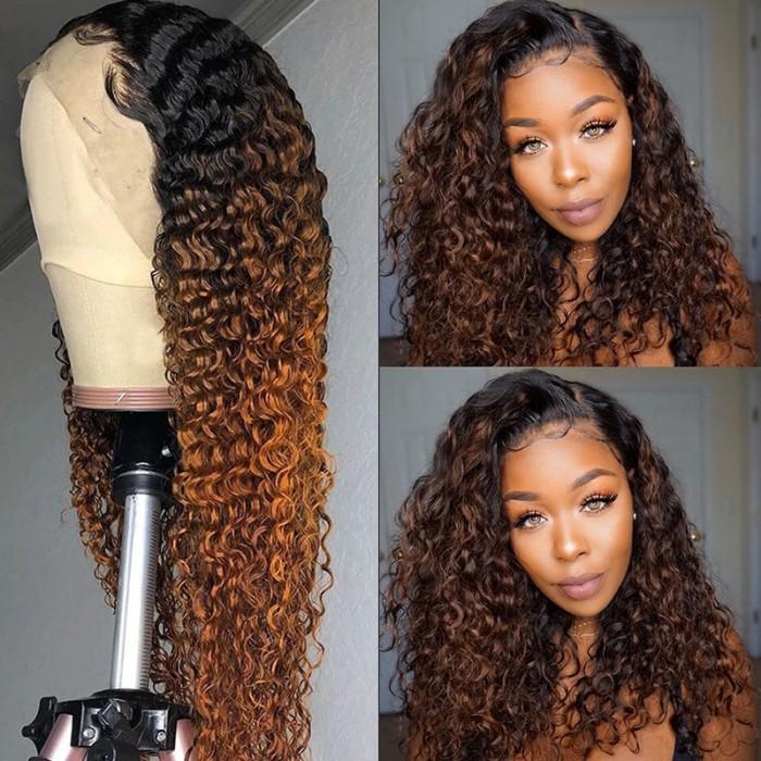Balayage Highlight Curly Wig