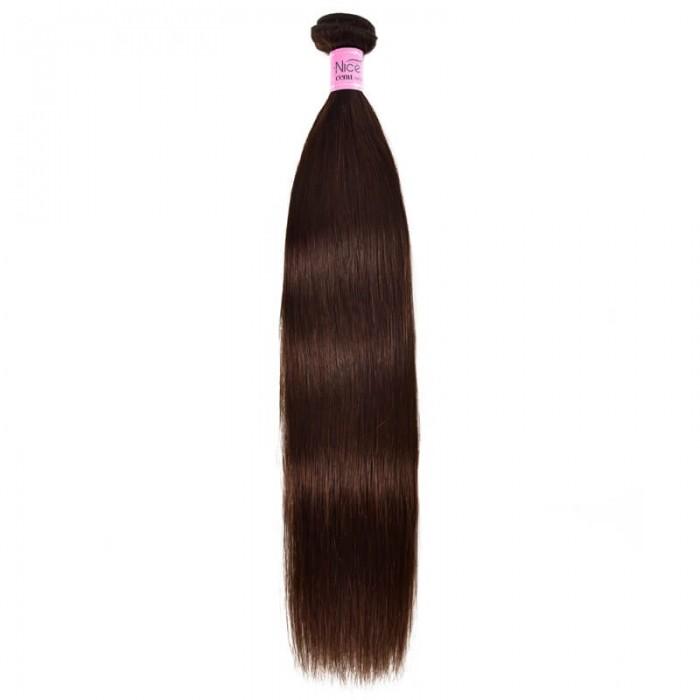UNice Hair Virgin Hair Brown Color Straight Hair 1 Bundle 100% Unprocessed Human Hair Bundle Icenu Series
