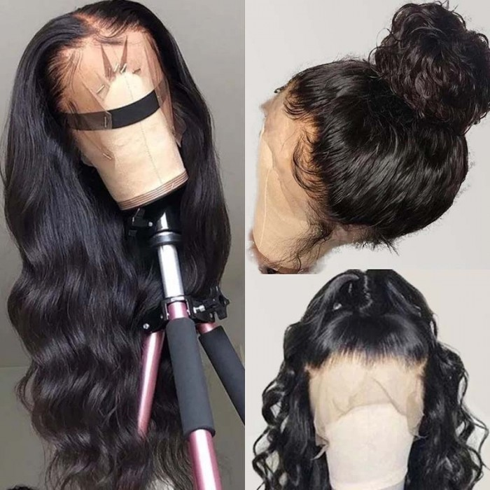 UNice Hair 100% High Quality Virgin Human Hair Body Wave 360 Lace Front Wig Pre Plucked Natural Hairline Bettyou Wig Series