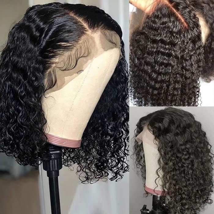 Unice 13x4 Jerry Curly Bob Lace Front Wigs for Women Remy Human Hair Lace Wigs Bettyou Series