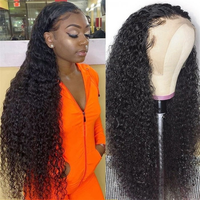 UNice Hair Brazilian Natural 13x4 Lace Front Pre-plucked Curly Lace Front Wig 100% Human Hair Bettyou Series