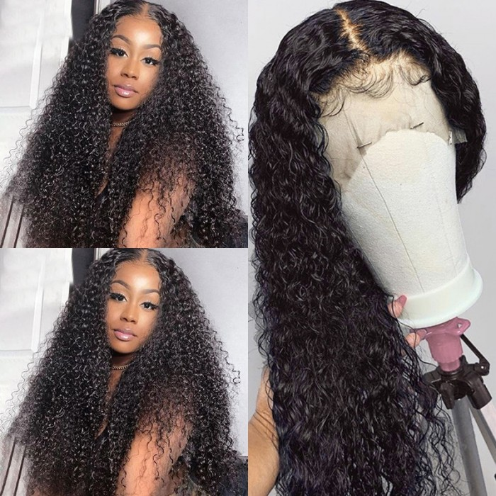 Cut To Free UNice Hair Brazilian Pre-plucked Long Curly 16 Inch Lace Front Wig