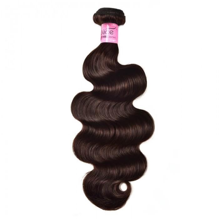 UNice Hair Dark Brown Color Body Wave Human Hair 1 Bundle #2 Color Icenu Series