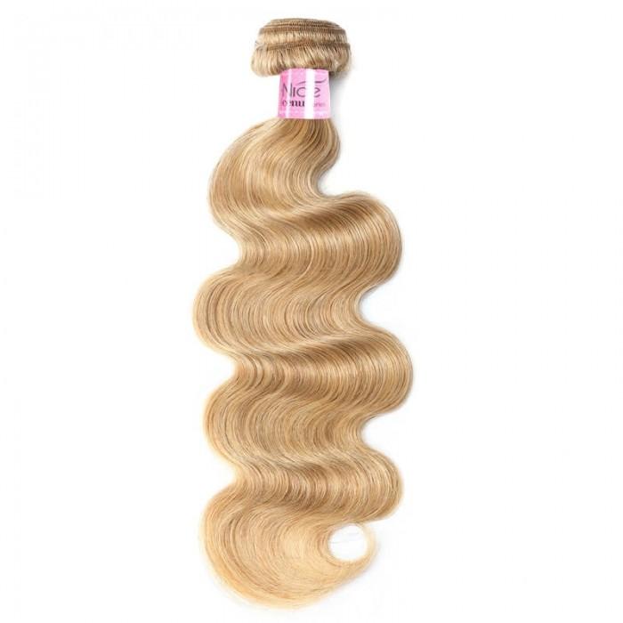 UNice Hair Honey Blonde Body Wave Hair One Full Bundle #27 Color Icenu Series