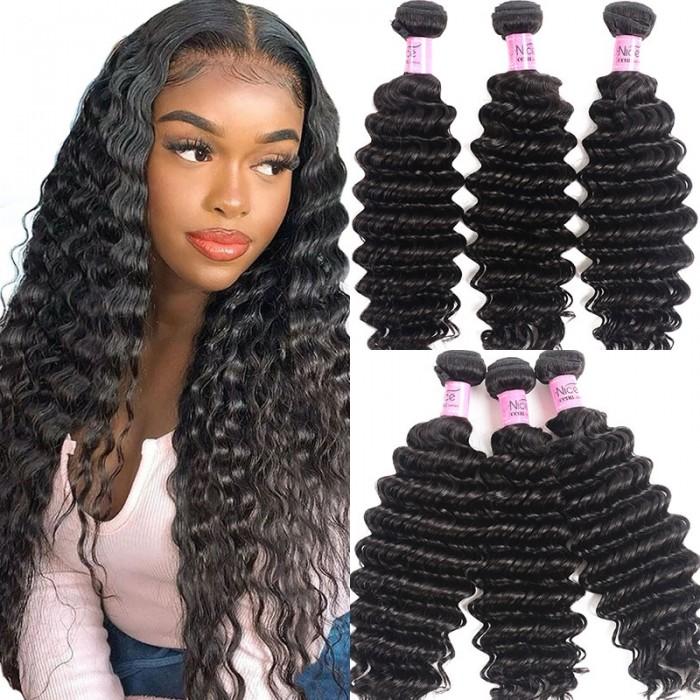 UNice Hair Icenu Series 3 Bundles Indian Deep Wave Human Virgin Hair