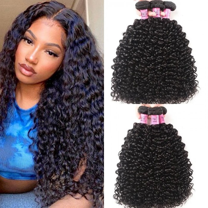 UNice Hair Icenu Series 3 Bundles Peruvian Jerry Curly Virgin Hair Weave