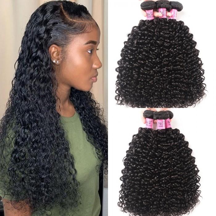 UNice Selected Icenu Series 3 Bundles Peruvian Jerry Curly Virgin Hair Weave