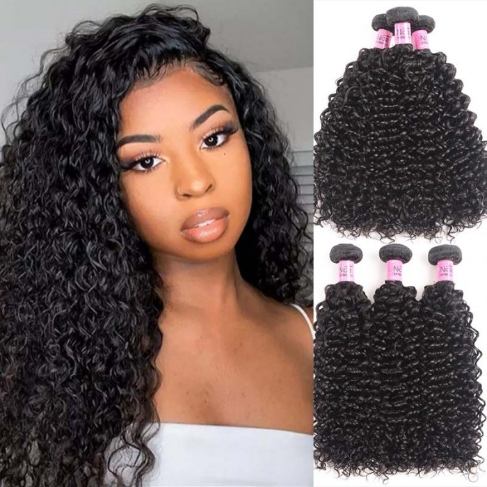 UNice Hair Icenu Series 3 Bundles Peruvian Jerry Curly Virgin Hair Weave