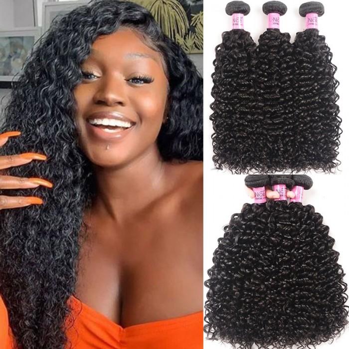 UNice Hair Icenu Series 3 pcs/pack Brazilian Jerry Curly Hair Weaving