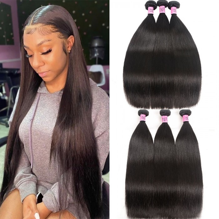 Cut To Free UNice Hair Straight Brazilian 3 Bundles Virgin Human Hair