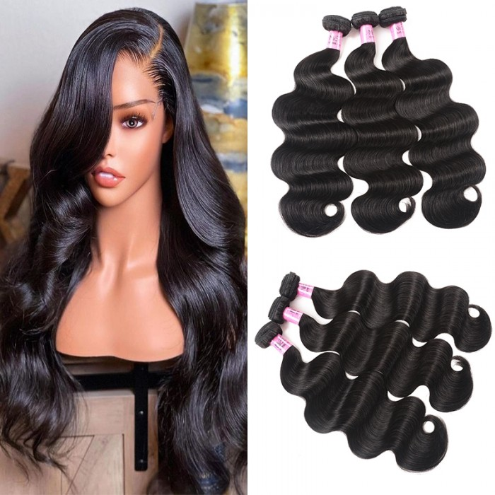 UNice Hair Icenu Series Indian Body Wave Human Hair Weft 3Pcs/pack