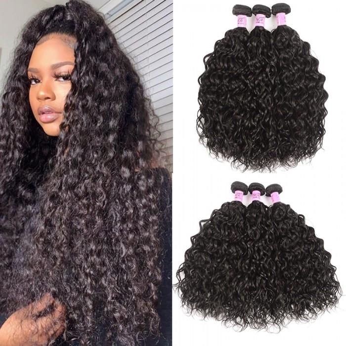 UNice Hair Icenu Series Indian Virgin Hair Natural wave 3 Bundles Human Hair