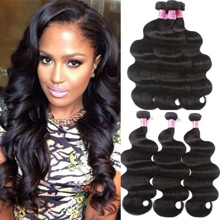 UNice Hair Malaysian Body Wave Virgin Hair 3 Bundles