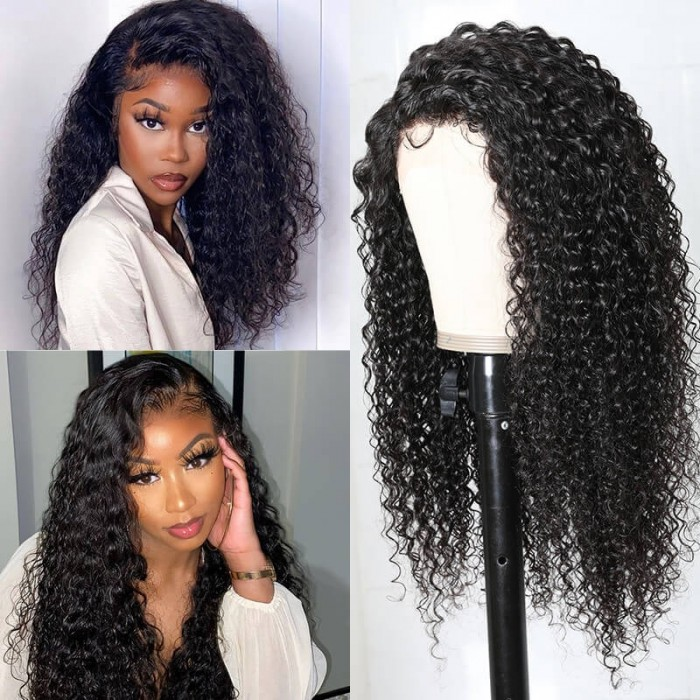 UNice Jerry Curly Wigs Lace Part Wig Double U Part Swiss Lace Wigs for Women Can Middle Part Left Part Right Part Bettyou Series