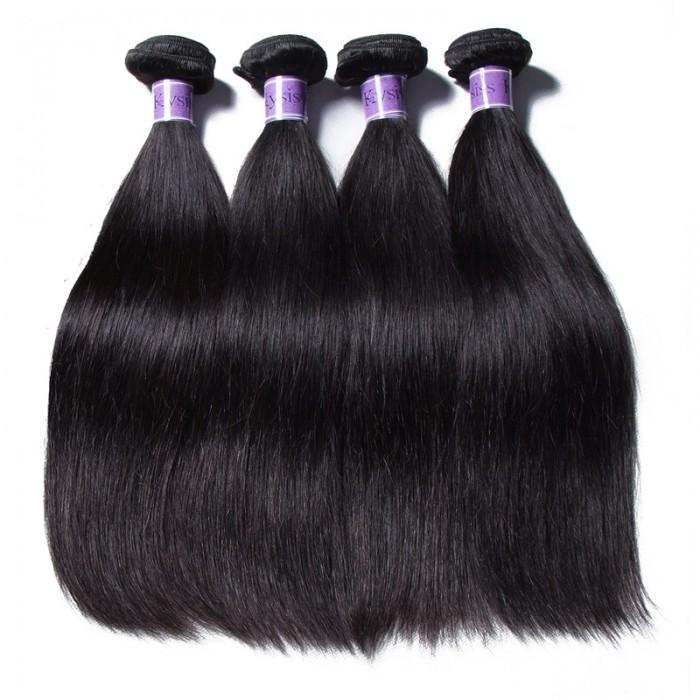 UNice Hair Kysiss Series 4pcs Malaysian Straight Hair Virgin+ Human Hair Extension