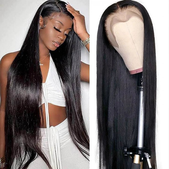 UNice Hair New Design Pre Plucked Natural Hairline 100% Straight Human Virgin Hair Lace Front Wigs Bettyou Series