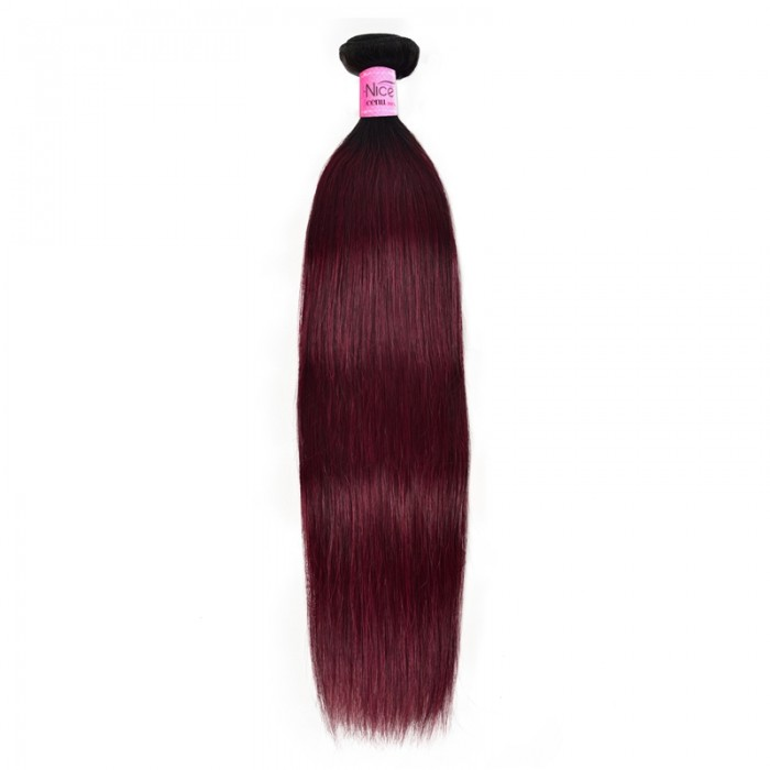 UNice New Pre-Colored #TB99J Straight Remy Human Hair Weave 1 Bunlde Deal Icenu Series