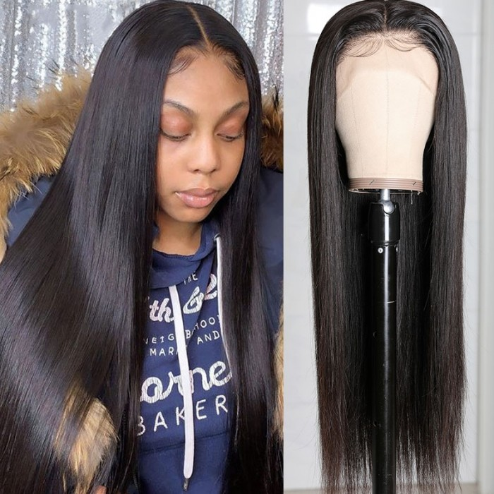 UNice Straight HD Lace Wigs 13x4 Lace Front Wigs Human Hair Wigs 150% Density Bettyou Series