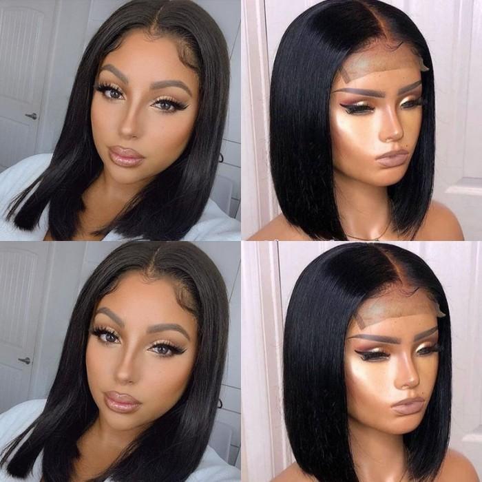 UNice Hair 4x4 Lace Closure Wig Natural Black Human Hair Bob Wigs For Sale Affordable Short Human Hair Wigs Bettyou Series