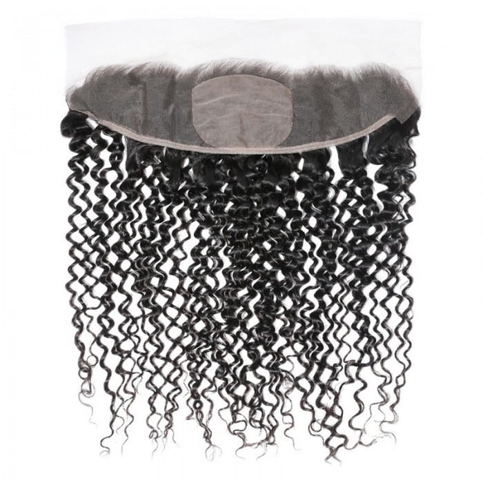 UNice Upgrade Fake Scalp Silk Base Closure 13x4 Curly Lace Frontal Hair Piece Invisible Knot 150% Density