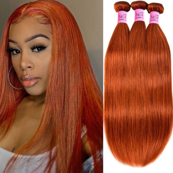 UNice Virgin Hair Straight 3 Bundles Colored Hair Weave Bundles #350 Human Hair Icenu Series