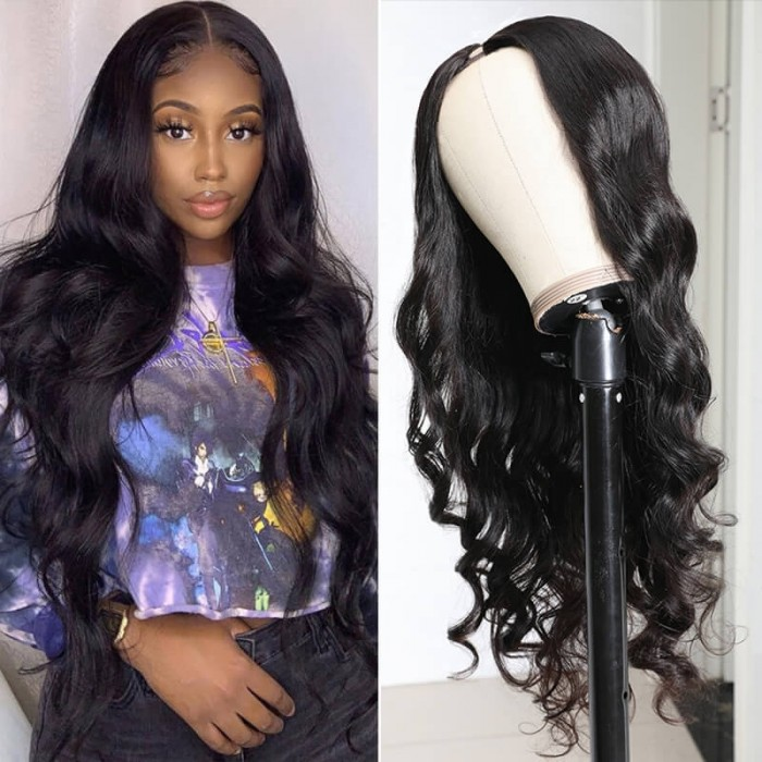 UNice Hair U Part Human Hair Wigs Body Wave Pre-Plucked Best Human Hair Wig 3x1