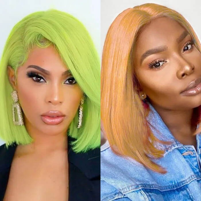 UNice 13x4 Straight Bob Lace Front Wig 150% Density Pre Plucked Lace Front Human Hair Human Hair Wigs With Baby Hair For Black Women Bettyou Series