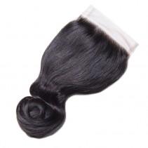UNice 100% Virgin Human Hair 1PC Unprocessed 4x4 Loose Wave Closure