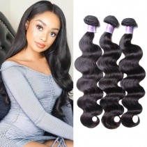 UNice Hair Kysiss Series 8A Grade Peruvian 100% Virgin Human Hair Body Wave 3 Bundles