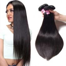 UNice Hair Icenu Series Human Virgin Straight Brazilian Hair 3 Bundles