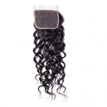 UNice 1PC Unprocessed 4x4 Water Wave Closure 100% Virgin Human Hair