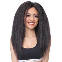 UNice Hair Bettyou Series Brazilian 100% Human Hair Wig Long Kinky Straight Black Front Wig