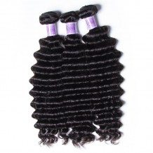 UNice-Kysiss 3 Bundles Indian Deep Wave Human Hair