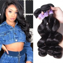 3 Bundles Hair Products Peruvian Loose Wave